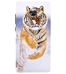 Chiraiyaa Designer Printed Premium Back Cover Case for Letv Le 2 (tiger jump) (Multicolor)