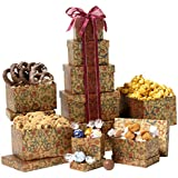 Broadway Basketeers Chocolate and Snack Attack Gift Tower