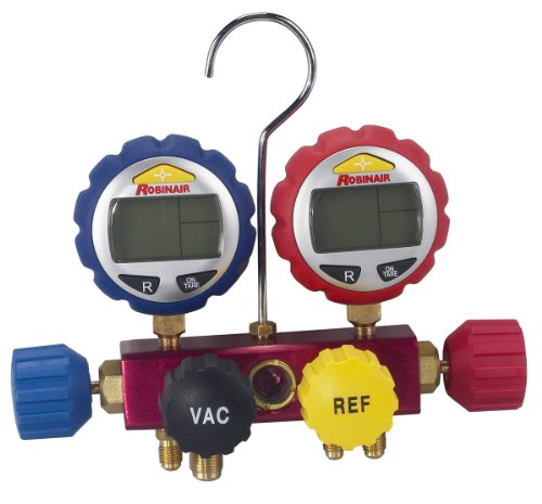 Robinair 43160 4-Way Manifold with Digital Gauges (R410a Guages compare prices)