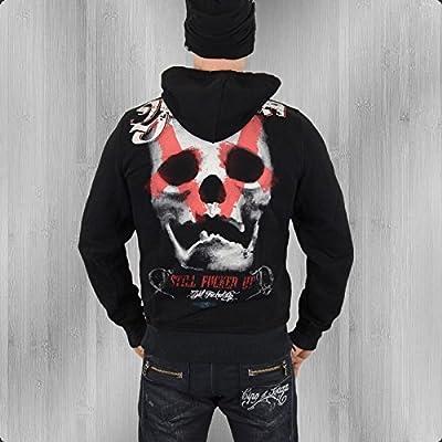 Yakuza Kapuzensweater Herren Big Skull HOB 425 schwarz - fällt 1 kleiner aus