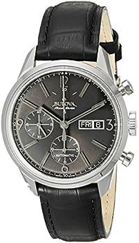 Bulova Accutron Men's Swiss Murren Chronograph Leather Watch