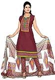 Salwar Studio MaroonandMulticolor Cotton Salwar Suit SS3008