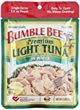 Bumble Bee Chunk Light Tuna, 2.5-Ounce Pouches (Pack of 12)