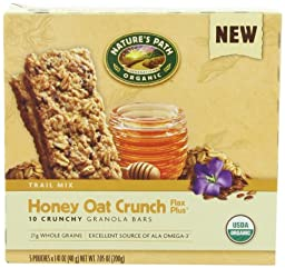 NATURE\'S PATH ORGANIC Crunchy Granola Bars, Honey Oat Crunch, 7.05-Ounce (Pack of 6)