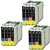 T 715 X 3 MULTIPACK - EPSON COMPATIBLE Ink Cartridges for Epson Stylus SX410 - Also Compatible With The Following Printers - Epson Stylus D120, D78, D92, DX400, DX4000, DX4050, DX4400, DX4450, DX5000, DX5050, DX6000, DX6050, DX7000, DX7400, DX7450, DX840