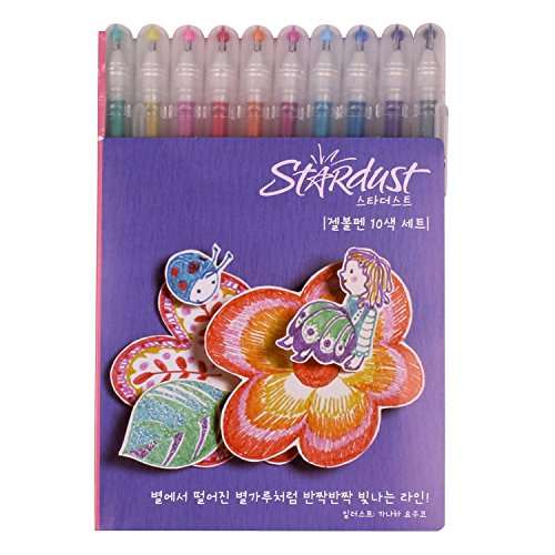 Sakura PGB10CS4 10-piece Gelly Roll Assorted Colors Stardust Galaxy Pen Blister Card Gel Ink Pen Set, Bold Sparkling, Assorted Colors [+Peso($47.00 c/100gr)] (US.AZ.10.9-0-B00TTOJHOI.1090)