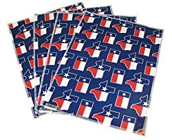 TEXAS FLAG Placemats 4pc set Limited Edition Place Mats for Dinner, Kitchen or Tailgating GIFT IDEA for Mom father Him Her