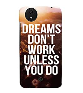 PRINTVISA Quotes Motivation Case Cover for Micromax Canvas Android A1