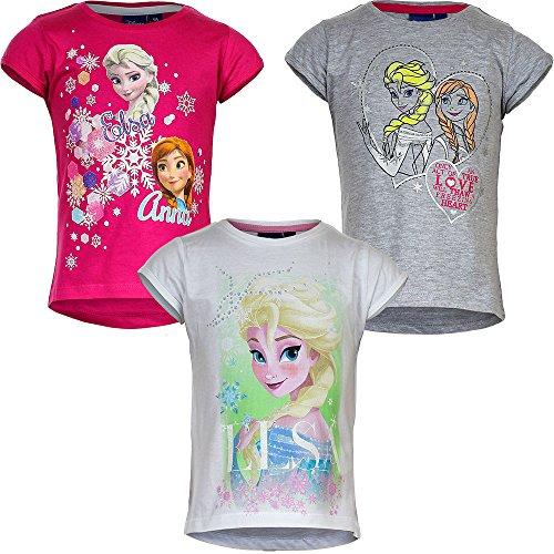 Disney-Frozen-la-Reina-de-Hielo-Camiseta-nia-Blanco-blanco