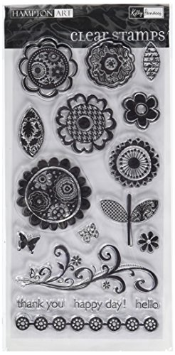 Hampton Art Blossom Sentiments Rubber Stamp - 1