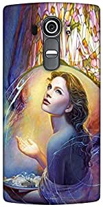 Snoogg Angels In Heaven Designer Protective Back Case Cover For LG G4