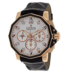 Corum Admirals Cup Chronograph 750 Rose 986.691.13/0001AA32 Gold Leap Second Automatic Men's Watch