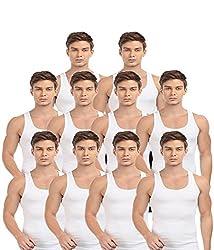BLIVE Men's Premium Cotton Vest (10, Small)