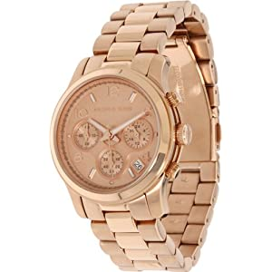 Michael Kors MK5128 Quartz Rosegold Round Dial Rosegold Band Women's Watch