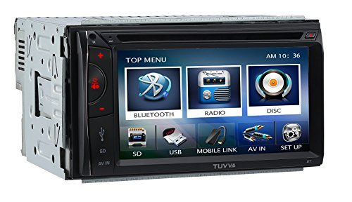 "TUVVA KSD6102 2-DIN Car Stereo with MHL Mobile Connectivity 6.1"" Capacitive Touchscreen DVD / CD / USB / SD / AV IN / MP4 / MP3 Player RDS Radio Bluetooth, Wireless Remote"