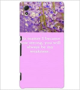 PrintDhaba Quote D-3721 Back Case Cover for SONY XPERIA Z4 (Multi-Coloured)