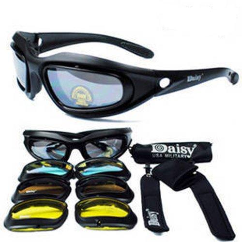 Daisy C5 sports shooting sunglasses replacement lens set 4 colors