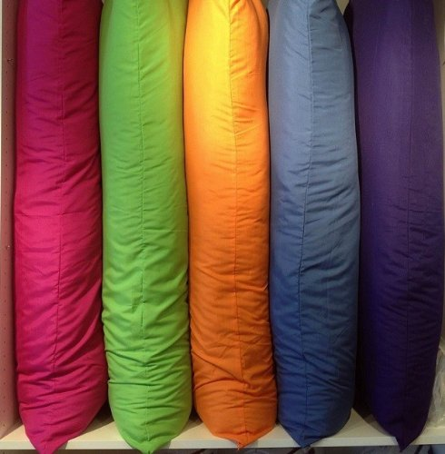 "Multiple Colors -Body Pillow Protectors- 21""X54""-Fuchsia front-1057247"