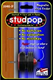 Studpop® magnetic stud finder. Unique popper indicates when it finds the metal fasteners in studs. Invented by a contractor. Works on sheetrock, plaster, lath, tile. No batteries. Makes stud finding fun! USA made. Amazon will choose color.