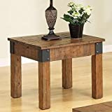Coaster 701457 Distressed Country Wagon Accent End Table