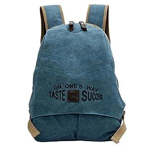 Smartstar Neust Vintage Design Damen Herren Casual Fashion Canvas Jeans Schultaschen Rucksack Für Schule Sport Freizeit Reise (Jeans Blau)