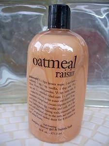 oatmeal raisin   shampoo, shower gel & bubble bath   philosophy 16 oz.