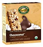 Nature's Path Organic Granola Bars,Dark Chocolate Chip  Chococonut ,6.2 oz., 5-Count Bars (Pack of 6)
