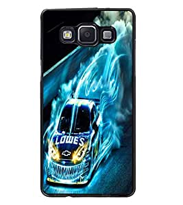 PrintDhaba Digital Car D-2227 Back Case Cover for SAMSUNG GALAXY A5 (Multi-Coloured)