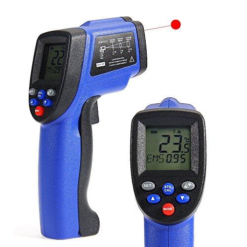 COLEMETER-Infrarot-Thermometer-Pyrometer-50-bis-700-C-berhrungslose-Infrarot-MessungTemperaturmesser-Temperaturmessgert-Mit-LCD-Display-Laserpointer