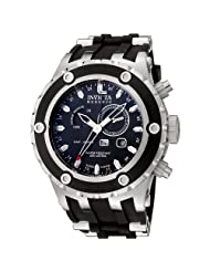 Invicta Men's 6203 Reserve Collection GMT Stainless Steel Black Rubber Watch