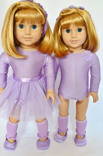 Purple And Lavender Ballerina Outfit For American Girl Dolls