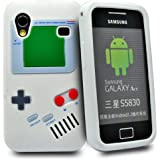 Accessory Master Housse en silicone pour Samsung Galaxy Ace S5830 Motif Game Boy Rétro Blanc