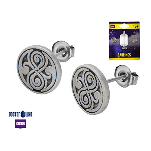 Zinc Alloy Doctor Who Seal of Rassilon Stud Earrings. (Doctor Who Seal Of Rassilon Ring compare prices)
