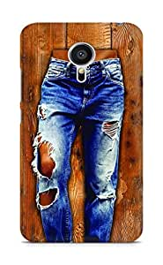 Amez designer printed 3d premium high quality back case cover for Meizu MX5 (Girl in stylish torn Jeans on wooden Texture)