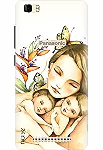 Noise Designer Printed Case / Cover for Panasonic P75 / Personalities / Mother Of Twins Design