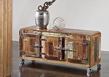 Muebles de madera maciza lacado hierro madera industrial-Stil muebles de madera maciza con puerta corredera Freezy #04