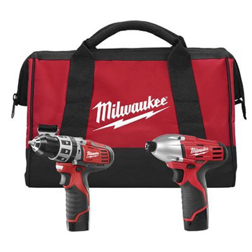 Milwaukee-2497-22-M12-12-Volt-Cordless-Lithium-Ion-2-Tool-Combo-Kit-Hammer-Drill-and-Impact-Driver