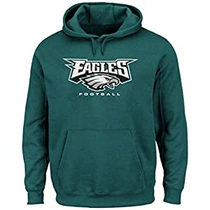 Majestic Men's Philadelphia Eagles NFL Critical Victory VIII Hoodie, Green from Majestic