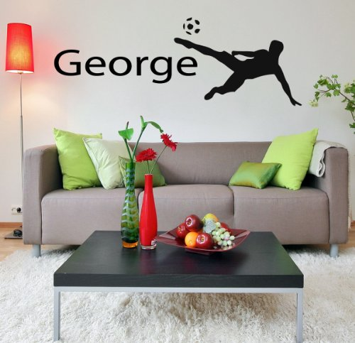 Housewares Vinyl Decal Boy Room Personalized Name Sport Football Player Home Wall Art Decor Removable Stylish Sticker Mural Unique Design For Any Room front-154734