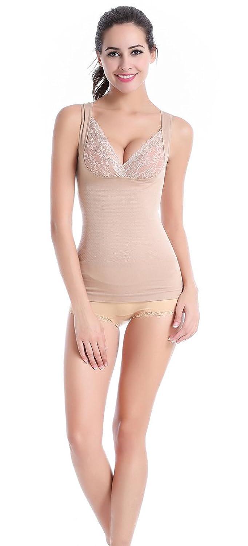 Glield Slim Figur Hemd Figurformendes Bauchweg Mieder Damen Unterhemd Spitze BH Hemdchen SW08 online bestellen