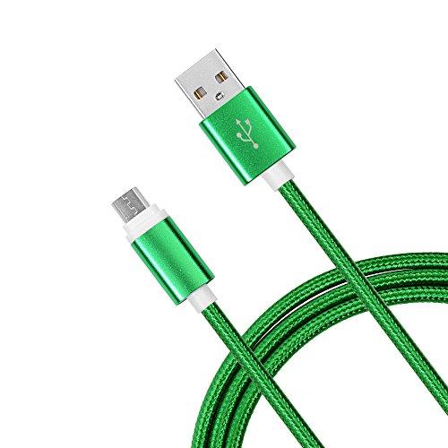 YOKIRIN® Cavo Micro USB USB 2.0 Cavo di Alimentazione USB 100cm per Caricare Samsung, HTC, Motorola, Nokia e altro (supporta quick charge)-Verde