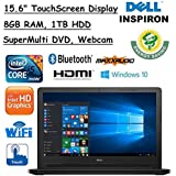2017 Newest Dell Inspiron 15.6 High Performance TouchScreen LED Backlight Laptop PC, Intel Core I5-5200U, 8GB RAM, 1TB HDD, Windows 10