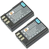 DSTE® 2pcs EN-EL9 Rechargeable Li-ion Battery for Nikon D40 D40x D60 D3000 D5000