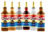 Torani Variety Pack, Regular, 25.4-Ounce Bottles (Pack of 6)