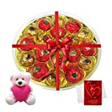 Valentine Chocholik Premium Gifts - Exceptional Taste Of Chocolates With Teddy And Love Card