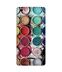 Colour Pallete Printed Back Cover Case For Micromax Canvas Selfie 3 Q348