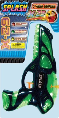Ja-Ru Squirt Gun 20' Assorted Colors, Green, Orange, Yellow