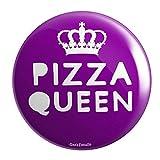 Geek Details Pizza Queen Pocket Mirror