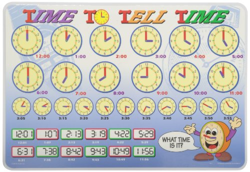 Painless Learning Time to Tell Time Placemat (Laminated Times Table Chart compare prices)