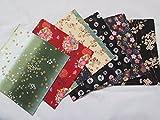 6 pieces Japanese Wrap cloth FUROSHIKI, multi variations New